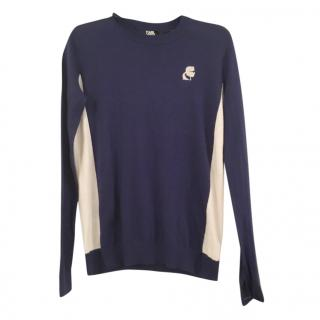 Karl lagerfeld cashmere blend sweater