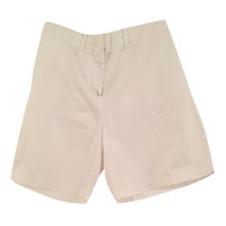 Lacoste white cotton shorts