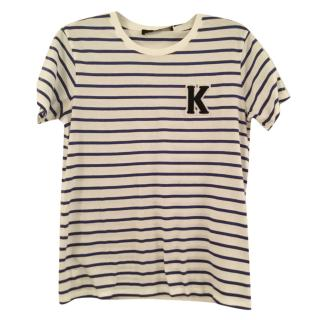 Karl lagerfeld blue & white striped t- Shirt