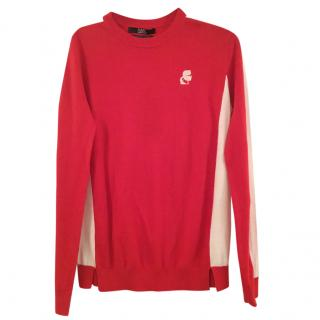 Karl lagerfeld red & white sweater