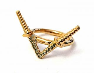Noritamy Peridot Screw Ring
