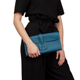 Hermes Blue Colvert Swift Leather Jige Elan 29