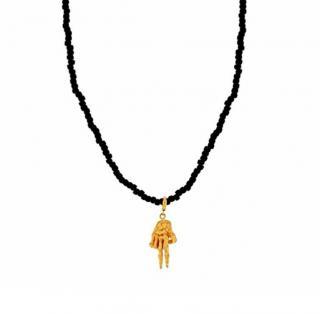 Luis Morais 14ct Gold Peace To The Bone Necklace