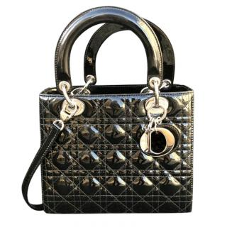 Dior Classic lady dior in black patent leather