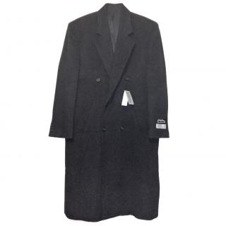 Gianfranco Ruffini Italy Wool & Cashmere Black Trench coat