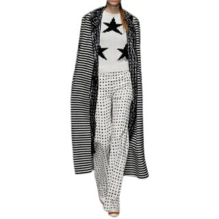 Max Mara Wide Leg Star Print Trousers