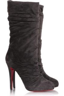Christian Louboutin Piros Suede Boots