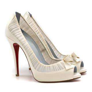 9e117a6e74c Christian Louboutin Angelique 120mm off-white pumps