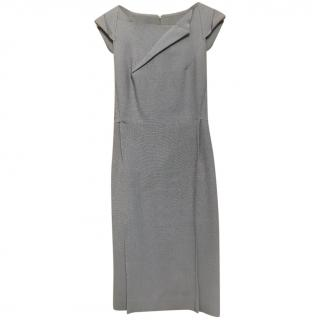 Roland Moret Grey Fitted Midi Dress