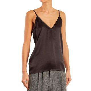 Raey Fitted Deep V Neck Silk Cami Top