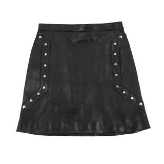 Saint Laurent studded leather mini skirt