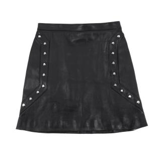 Saint Laurent studded leather mini skirt