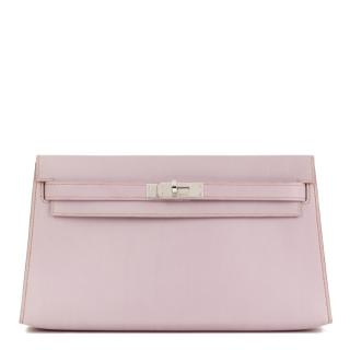 Hermes Lilac Box Nepal Leather Kelly Longue Clutch