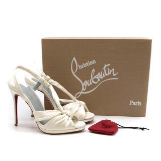 Christian Louboutin So Liz 110mm off-white sandals