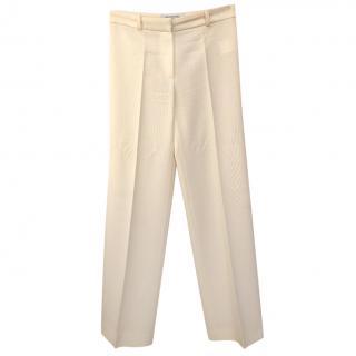Balenciaga Cream Wide Leg Trousers