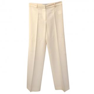 Balenciaga Cream Wide Leg Trousers
