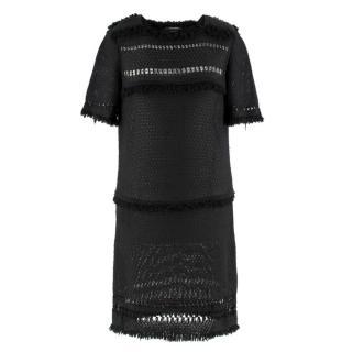 Isabel Marant black fringed crochet dress