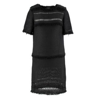 Isabel Marant black fringed crochet dress