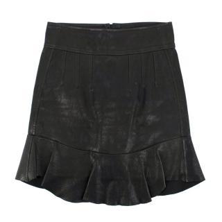 Isabel Marant leather peplum-hem skirt