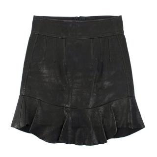 Isabel Marant leather peplum-hem skirt