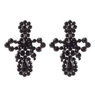 Simone Rocha Small Bow Drop Bead Embellished Earrings