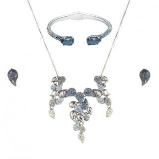 Alexis Bittar Crystal Encrusted Ombre Paisley Jewellery Set