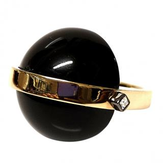 May Moma Black & Gold Gia Ring