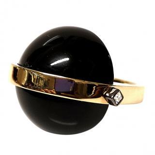 May Moma Black & Gold Gia Ring