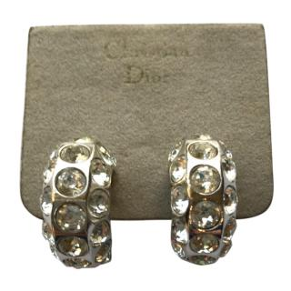 Christian Dior Vintage Crystal Earrings