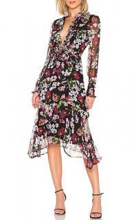 Equipment palo silk floral print midi dress