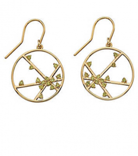 Elements Gold Spider Web Earrings