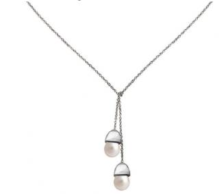 Fei Liu Pearl Acorn Pendant Necklace