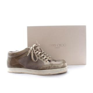Jimmy Choo 'Miami' Suede and Patent Leather Sneakers