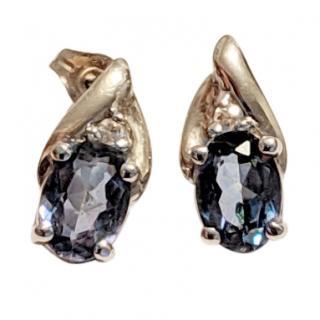 Bespoke 10kt Tanzanite Stud Earrings