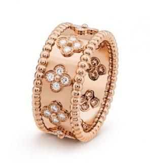 Van Cleef & Arpels Perl�e Clovers Diamond & Rose Gold Ring