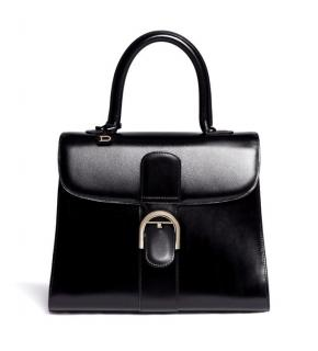 Delvaux Brilliant Black Edition Box Calf Leather Bag Black Hardware