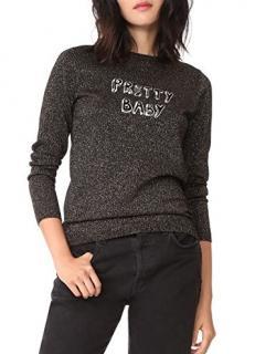 J Brand x Bella Freud 'Pretty Baby' Metallic Knit Jumper