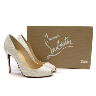 Christian Louboutin Tiber 100mm lame pumps