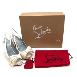 Christian Louboutin Vendome Sling 120mm satin pumps