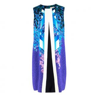 Peter Pilotto abstract-print cady shift dress