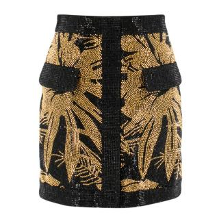 Balmain palm stud-embellished mini skirt