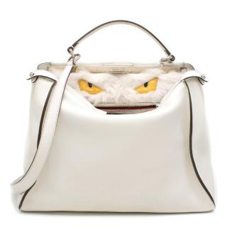 Fendi Peekaboo Large Limited Edition white leather tote