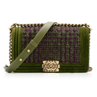 Chanel Limited Edition quilted-tweed boy bag