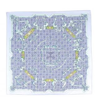 Hermes Limited Edition Mors & Gourmettes silk-twill scarf