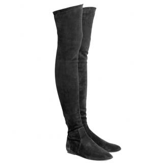 Isabel Marant Brenna suede over-the-knee boots