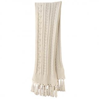 Burberry white cashmere scarf