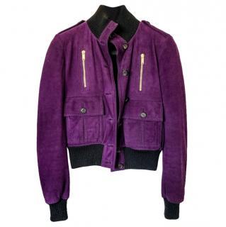 Gucci madonna purple suede jacket