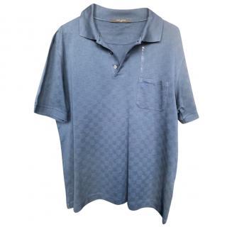 Louis Vuitton Men's Blue Polo Shirt