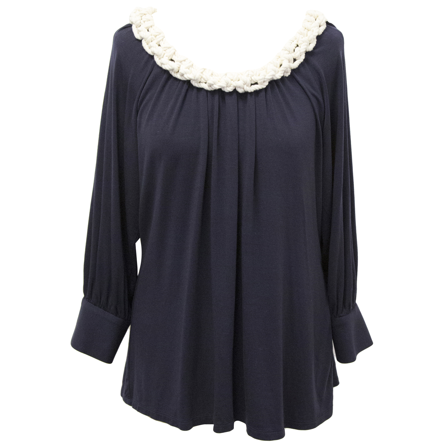 Milly navy stretch top
