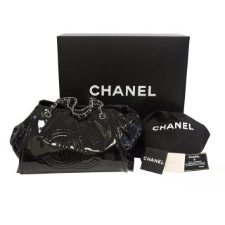 Chanel Large Patent CC Bowling Bag